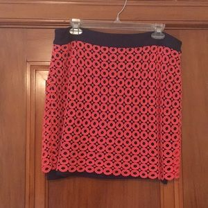 Preppy Knit Overlay Skirt